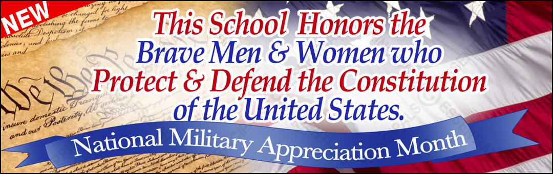 National Military Appreciation Month Banner