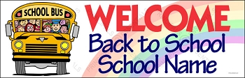 School Welcome Bus Banner (Customized)