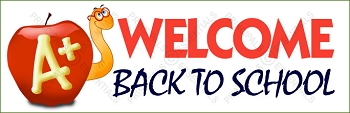 Welcome Worm Back to School Banner