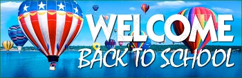 Welcome Back to School Balloons Banner
