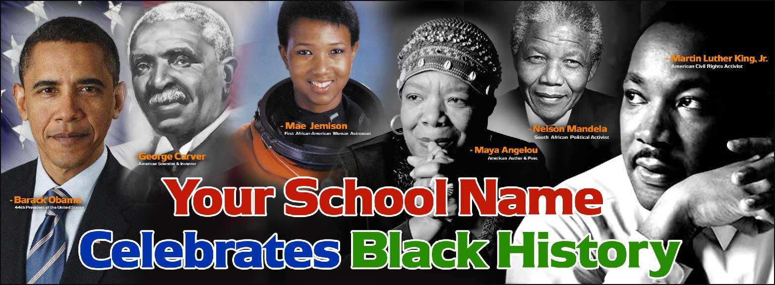 Black History Vinyl Banner