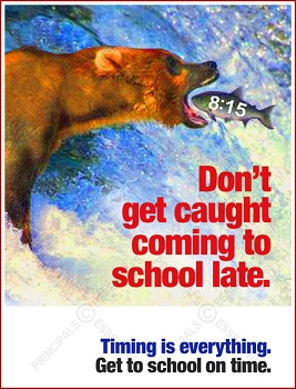 Bear Fish Catch Tardy Poster