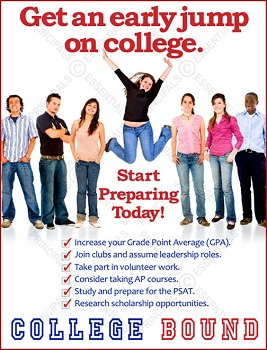 Get an early jump on college Poster