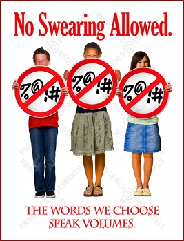 No Swearing Allowed Poster