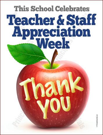 Apple Teacher Amp Staff Appreciation Poster