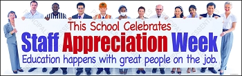 School Staff Appreciation Week Banner