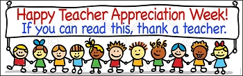 Happy Teacher Appreciation Week Vinyl Banner