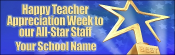 Custom Star Teacher of the Year Banner