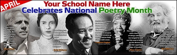National Poetry Month Vinyl Banner-April