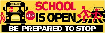 School is Open Vinyl Banner