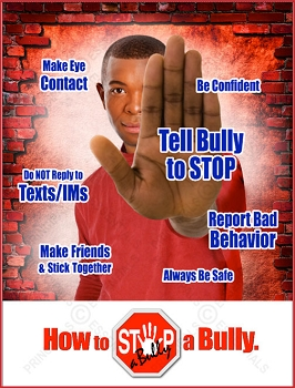 STOP-a-Bully Brick Poster