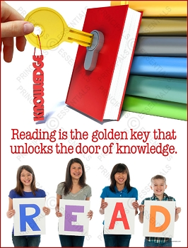 Reading is the golden key that unlocks the door of knowledge.