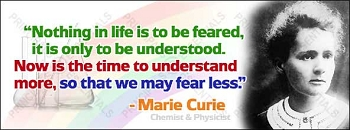 Marie Curie<br>Vinyl Banner