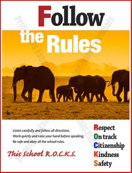 Follow the Rules Poster