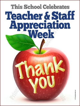 Teacher & Staff Appreciation Apple Poster