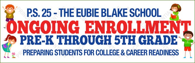 Ongoing Enrollment Vinyl Banner