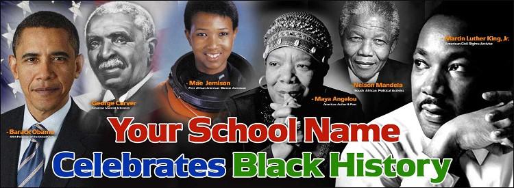 Graduation Quotes Images 265 Quotes: Black History Vinyl Banner
