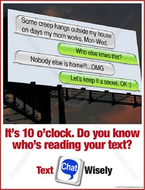 It's 10 o'clock. Do you know who's reading your text?