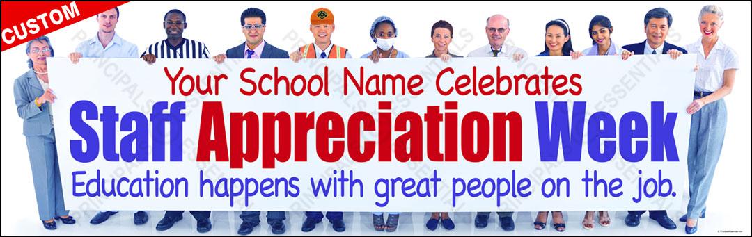 Custom Staff Appreciation Vinyl Banner