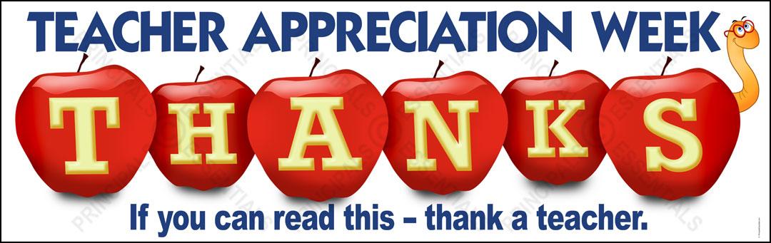 Teacher appreciation apples vinyl banner sciox Images