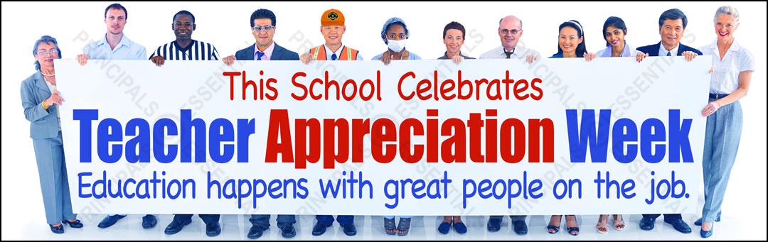 Teacher Appreciation Week Vinyl Banner