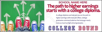 Higher Earnings College Vinyl Banner