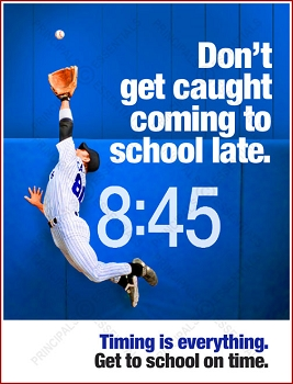 Men's Baseball Tardy Poster