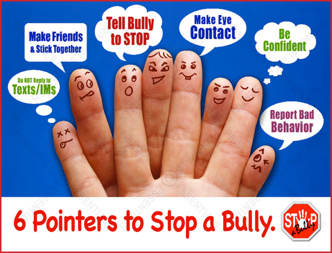 stop a bully pointers poster. Black Bedroom Furniture Sets. Home Design Ideas