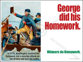 George did his Homework.