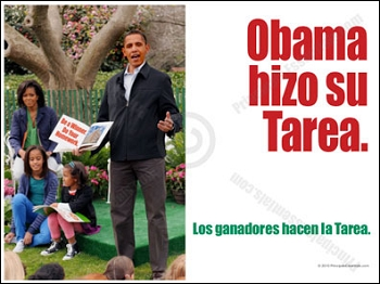Obama did his homework Poster