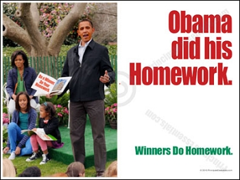Obama did his Homework.