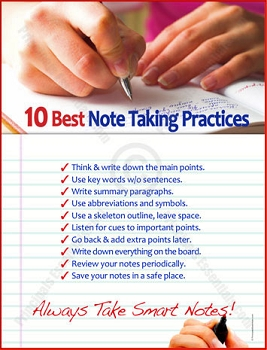 10 Best Note Taking Practices