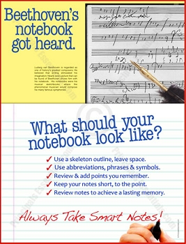 Beethoven's Notebook Scored.