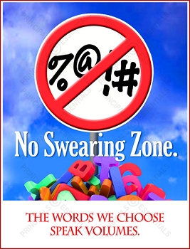 No Swearing Zone Poster