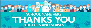 Thank You Docs and Nurses Banner