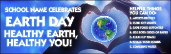 Earth Day Celebration Vinyl Banner
