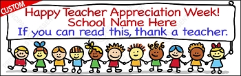 Thank a Teacher Appreciation Banner