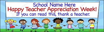 Stick Kids Thank You Banner (Teacher or Staff)