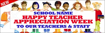 Happy Appreciation Banner (Teacher & Staff)