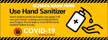 Use Hand Sanitizer Banner
