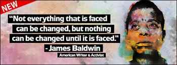 James Baldwin Vinyl Banner