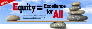 Equity Equals Excellence for All Banner
