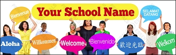 Multicultural Many Welcomes Banner