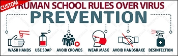 Virus Prevention Rules Vinyl Banner