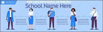 Promoting School Social Distancing Banner