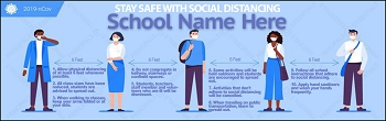 Promote Social Distancing & Safety Rules Banner