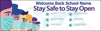 Stay Safe to Stay Open Banner
