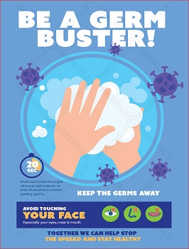 Germ Hand Buster Poster