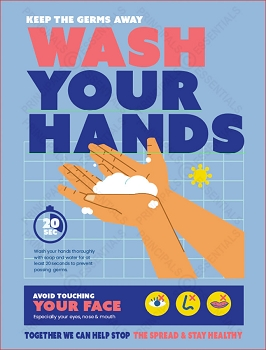 Keep Germs Away Poster