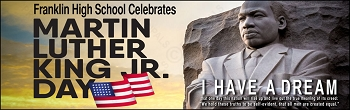 Martin Luther King Jr. Monument Banner-FREE Shipping